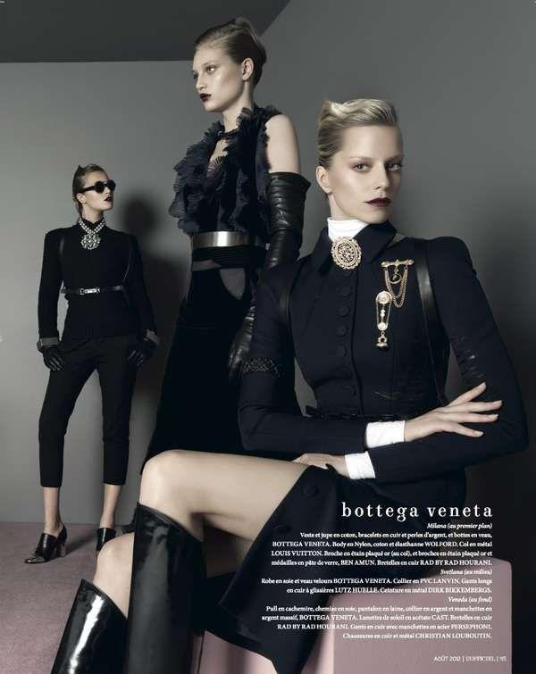 86 Military Womenswear Editorials - From Elegant Ensembles to Helmet Looks