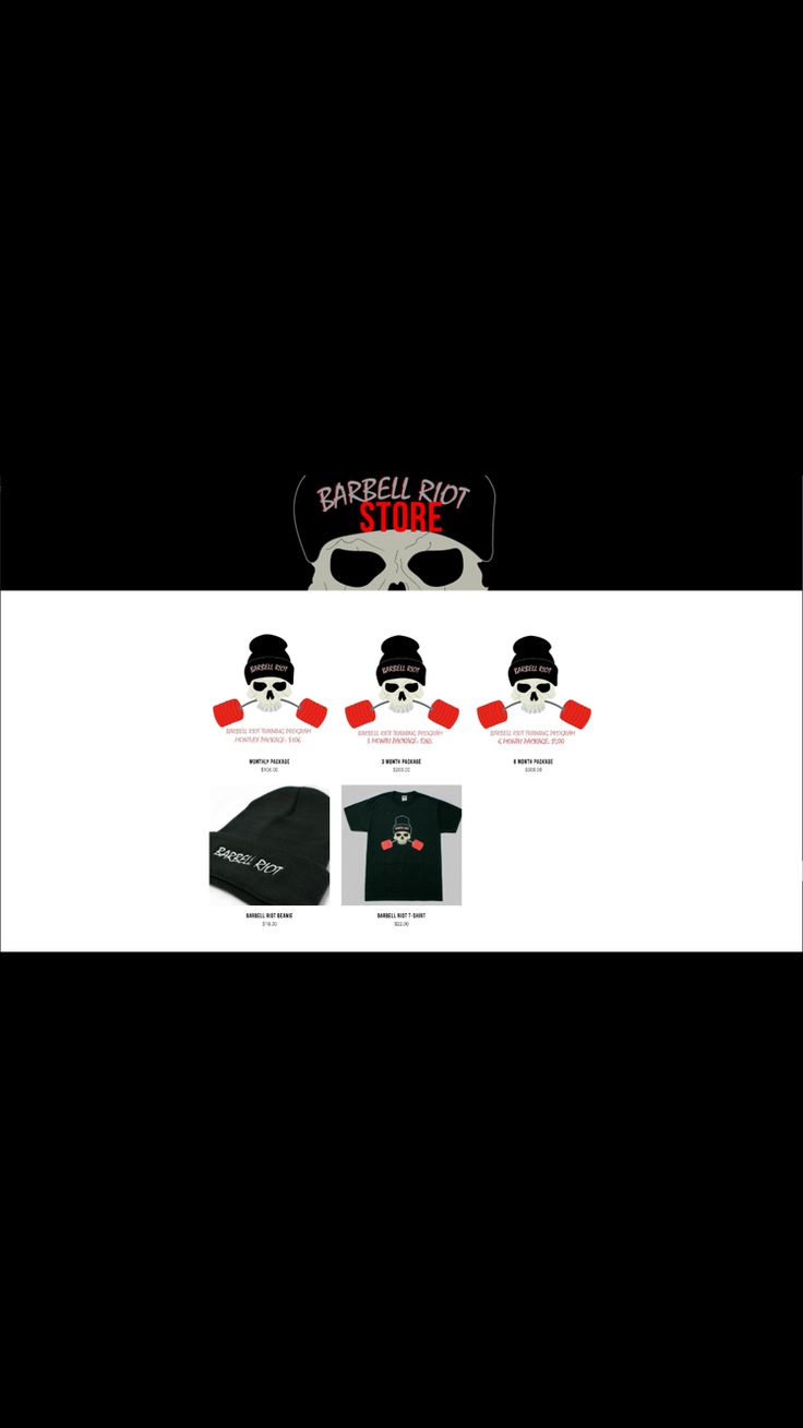 Barbell Riot store is officially live! www.barbell-riot.com