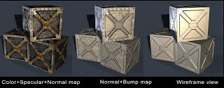 Stages of 3D Modelling Crates - http://kdparmar.blogspot.co.uk/2010/05/game-props.html
