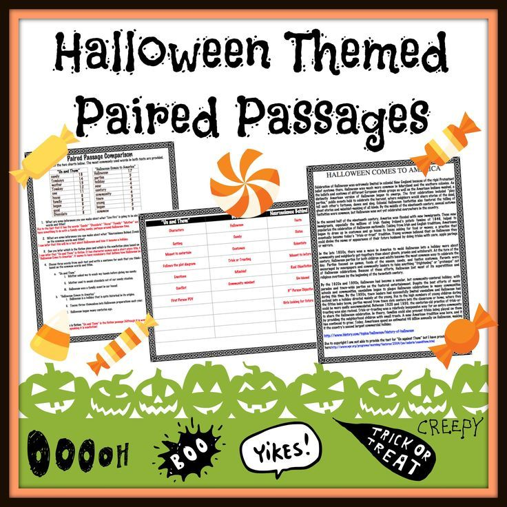 halloween short story vs article paired passages middle school - Halloween Short Stories Middle School