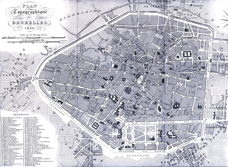 60 best Brussels a large and beautiful city old postcards and maps