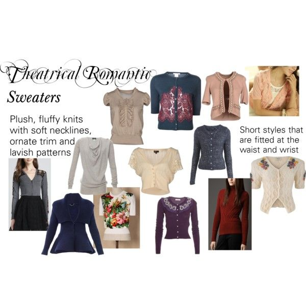 """""""Theatrical Romantic Sweaters"""" by trueautumn on Polyvore"""