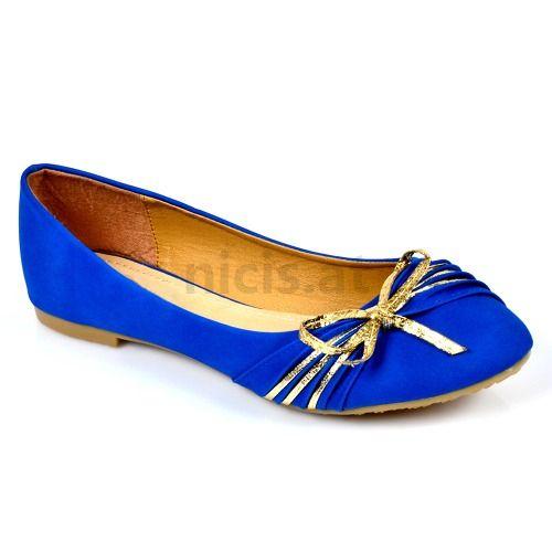 Schuhe Online Kaufen Günstig | Damen Ballerinas - Blau