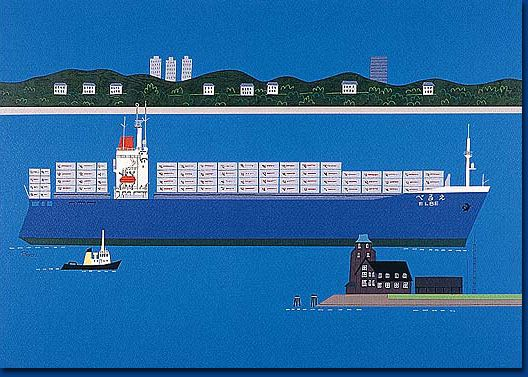 Mitsui O.S.K. Lines : Ryohei Yanagihara Museum : 1F Exhibition Rooms : Ports and Ships in the World