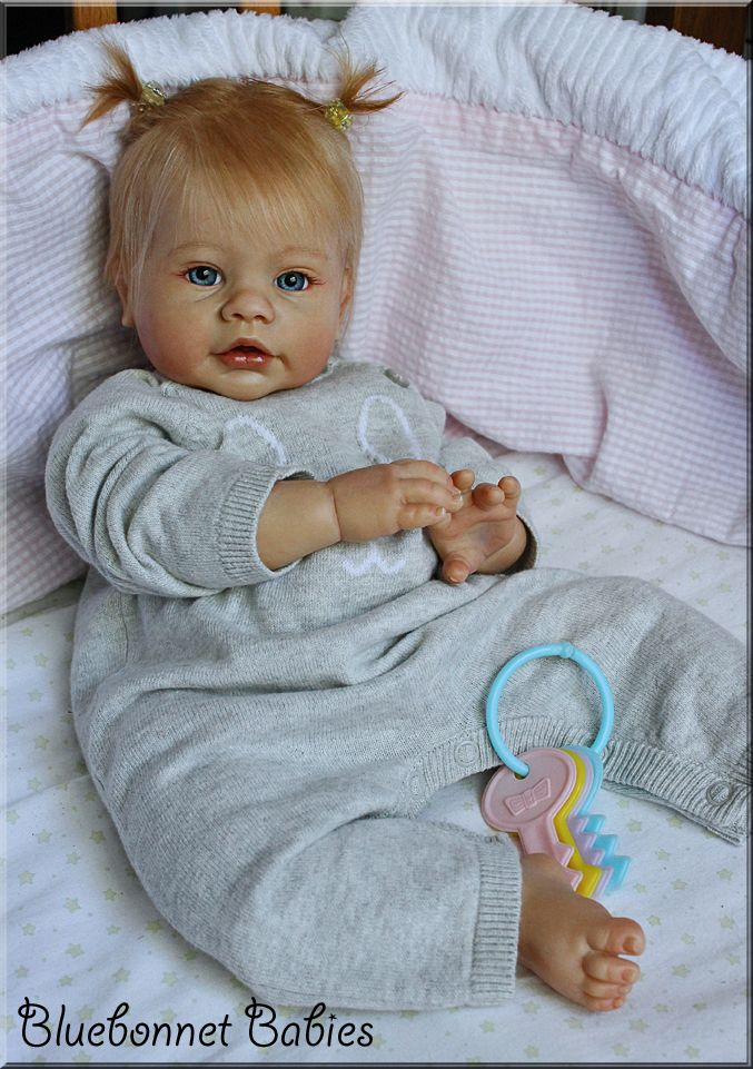 Keyden by Reva Schick for Lee Middleton Dolls. Reborn by Bluebonnet Babies