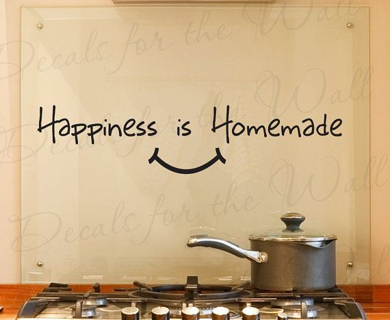 Happiness Homemade Kitchen Dining Room Home Family Adhesive Vinyl Sticker Art Letters Wall Decal Quote Lettering