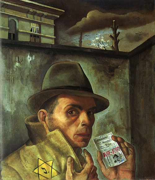 Autoportrait à l'étoile jaune- 1943 F. Nussbaum