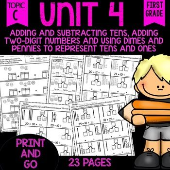 Print and Go Math Sheets (add and subtract tens & add tens