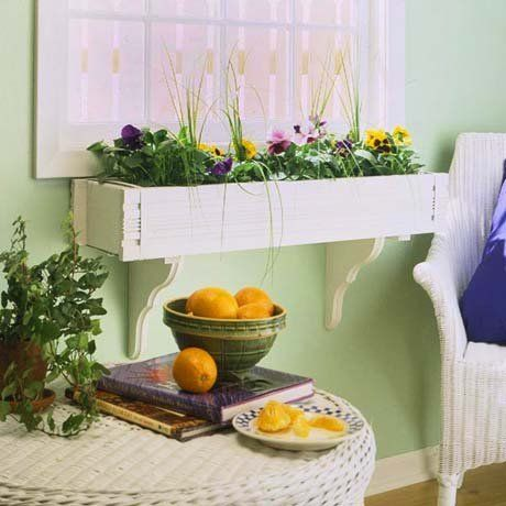 Indoor flower box for windowsill