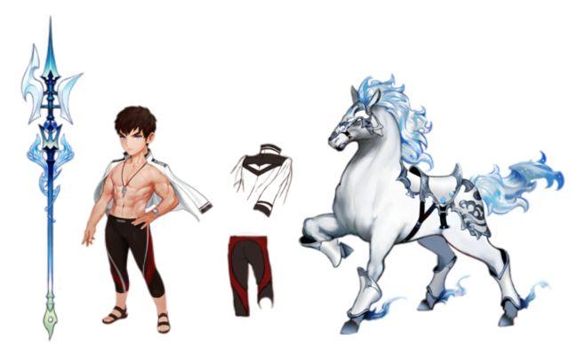 晉com采集到插畫-角色/七騎士/세븐나이츠(245图)_花瓣游戏