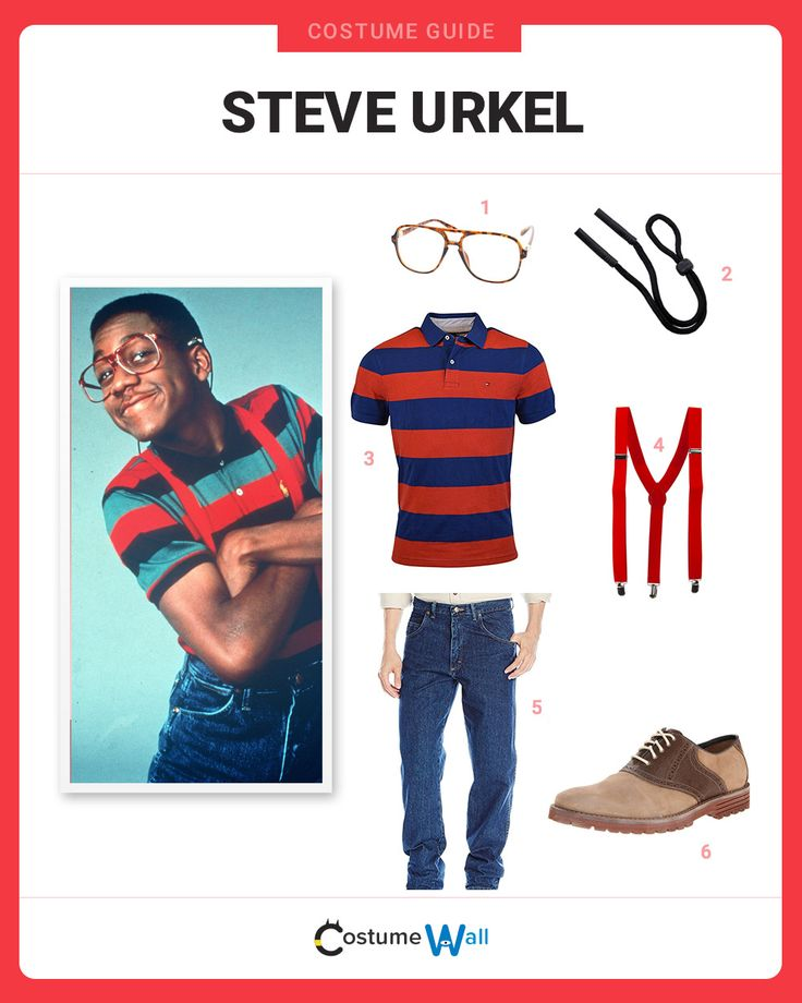 The best costume guide for dressing like Steve Urkel, the nerdy next door neighbor from the popular 90's TV show Family Matters.