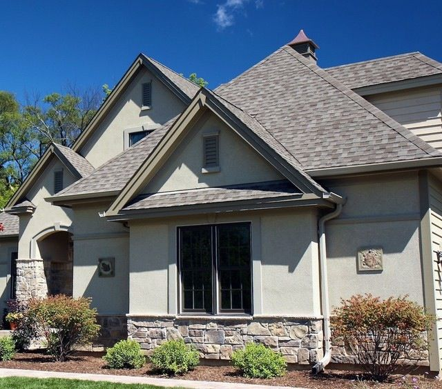 14 best stucco stone combos images on pinterest for Stucco homes with stone