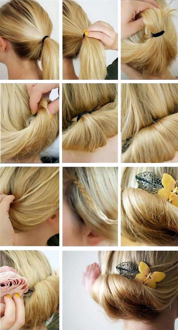 How To Make A Hairstyle At Home 7 Easy And Stylish Hairstyle For You Now You Are Only See One Of Them Hairstyle Stylish Hair Hair Styles