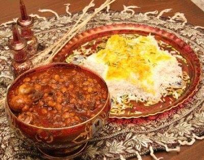 polo khoresh e gheimeh an Iranian food