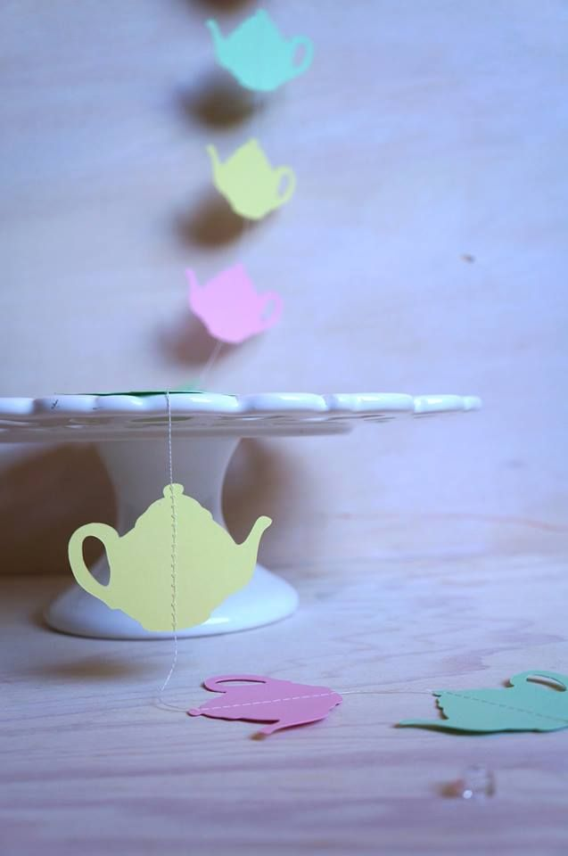 Teapot garland Tea Party supplies and shopping guide | Life's Little Celebrations