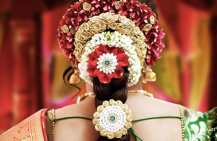 Flower Hair Decoration For Indian Brides Flower