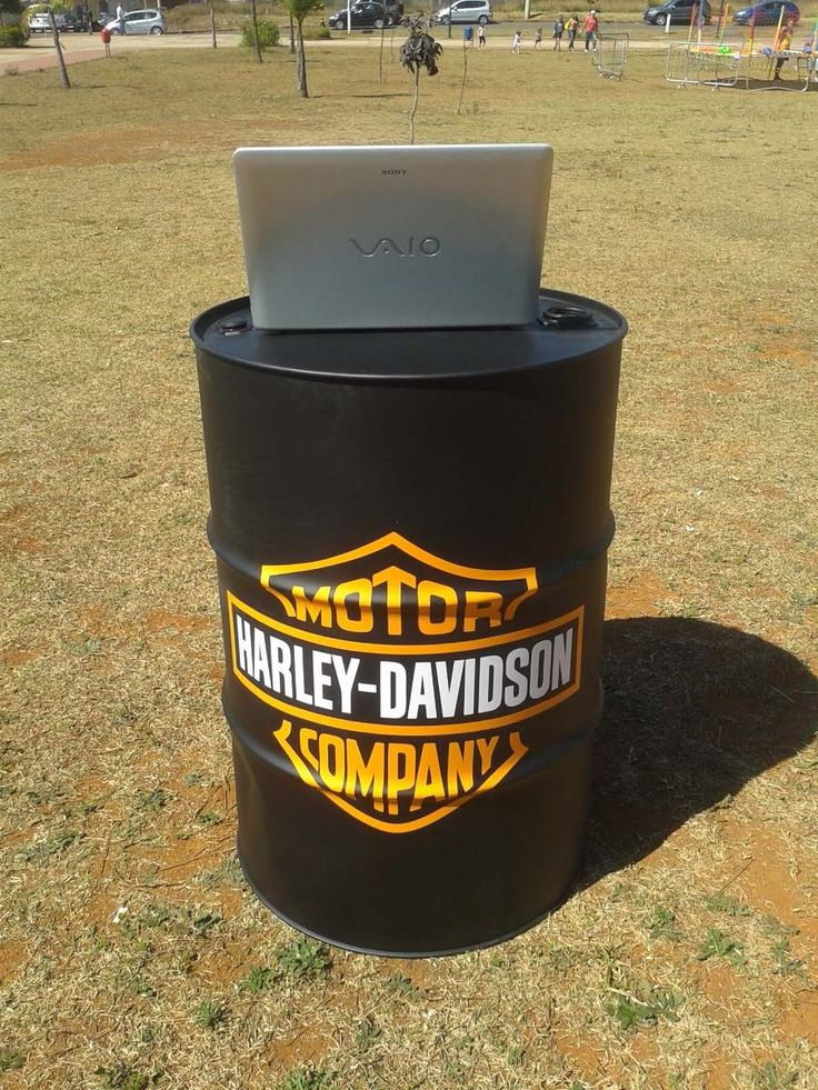 tambor | barril | tonel decorativo harley davidson - Contato: biadamasarquiteta@gmail.com