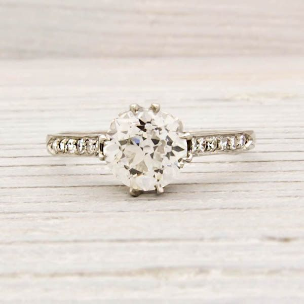 1 55 Carat Tiffany & Co Antique Engagement Ring Engagement rings