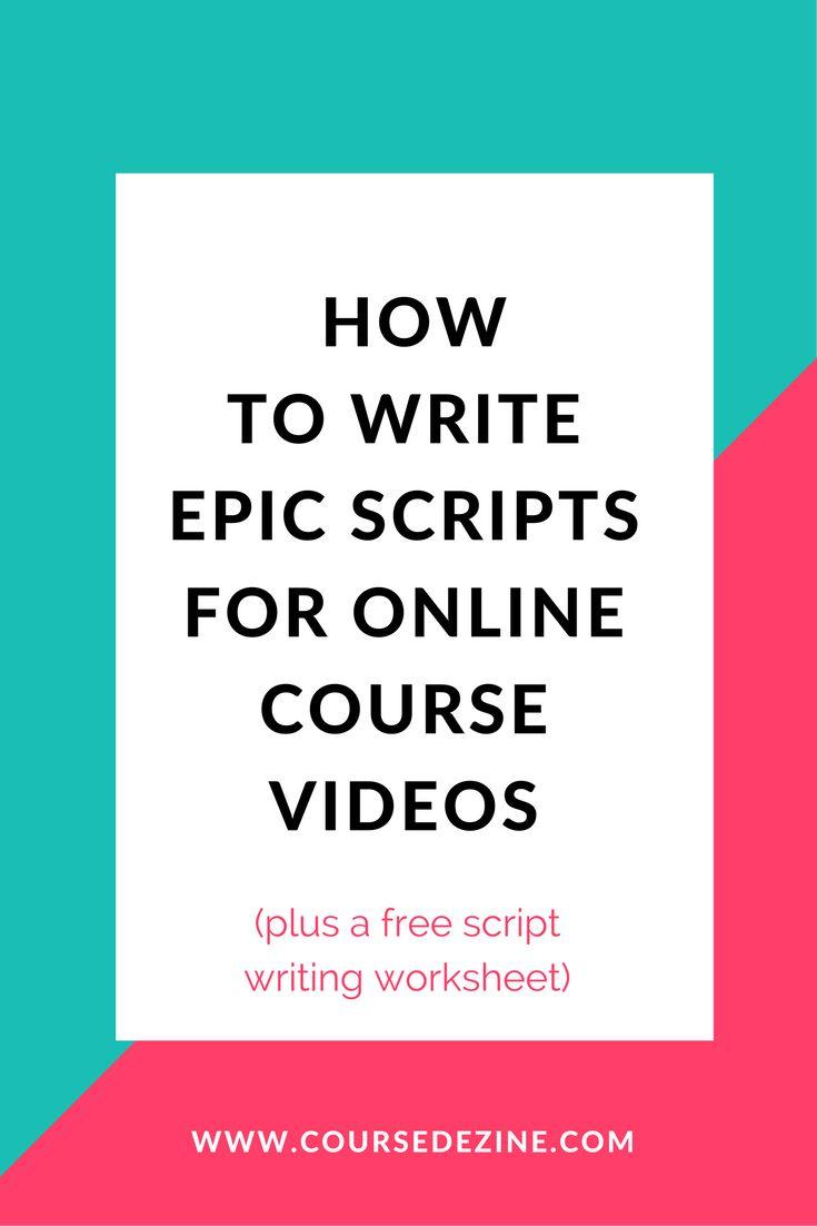 write-scripts-online-course-video