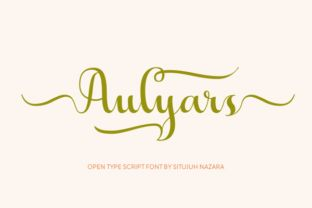 http://Aulyars is a stunning font created bySitujuh Nazara.