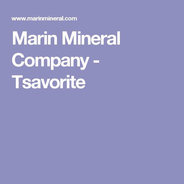 Marin Mineral Company - Tsavorite