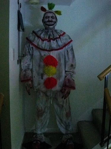 Someone in our neighbourhood dressed as Twisty the Clown. I noticed the younger kids were afraid to go that house!