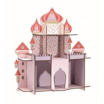 Wunderschönes Kinderzimmer Motiv Wandregal und Aufbewahrung, Persische Prinzessin, 52 x 54 x 17 cm, von Djeco