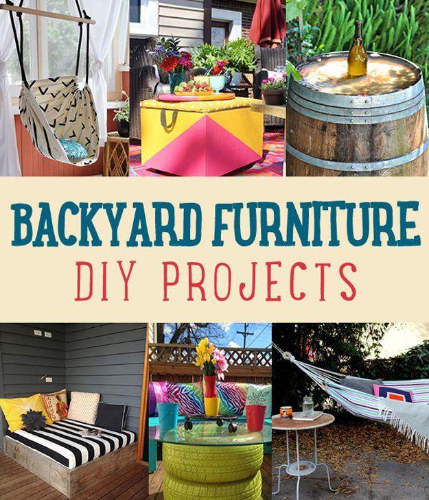 Backyard Furniture DIY Projects
