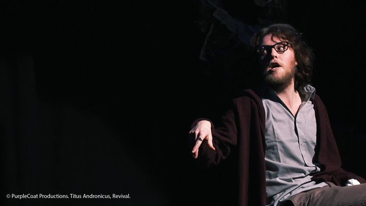© PurpleCoat Productions. 'Titus Andronicus Revival', Titus (Karl Falconer)