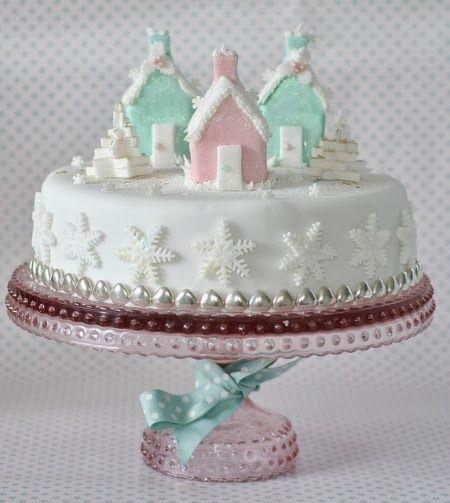 Beautiful Christmas Cake Decorating #cakedecorating  #christmas