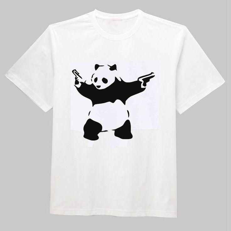 Barato O envio gratuito de BANKSY KUNG FU PANDA armas filme JOKE O Neck algodão de manga curta fresco Camiseta homens da camisa T Camisetas Unisex, Compro Qualidade Camisetas diretamente de fornecedores da China:         Carta do tamanho:                   Detalhe do produto:
