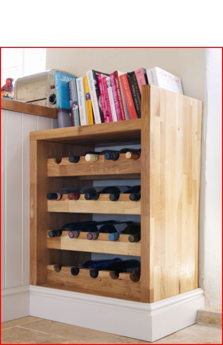 Bespoke Wine Holder and Recipe Book Shelf. This makes a lovely little feature in any kitchen
