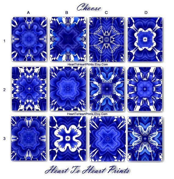 Blue Wall Art Royal Blue Wall Decor Cobalt Blue White Floral Art Prints Set of 6 Rustic Bedroom Decor Bathroom Wall Art Living Room Pictures