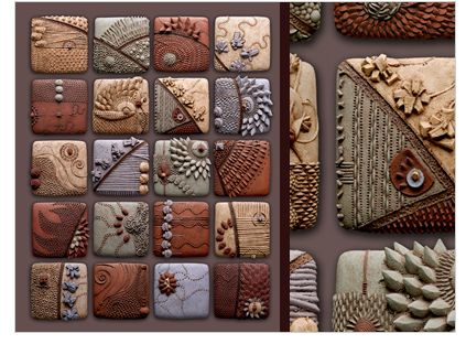 Polymer clay inchies by daily art muse