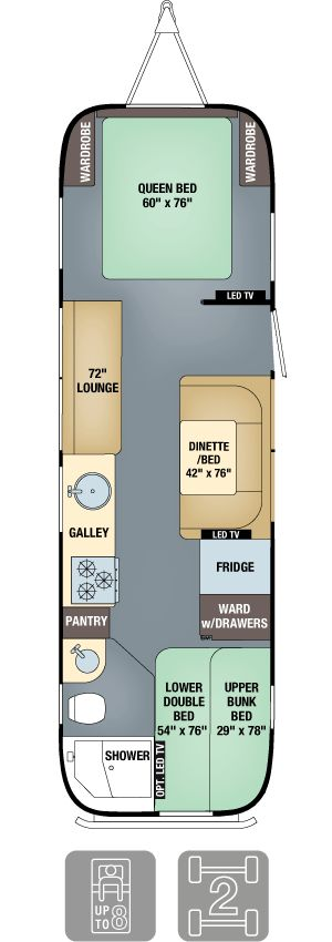 Floor Plans - Flying Cloud 30FB Bunk. Totally gorgeous...