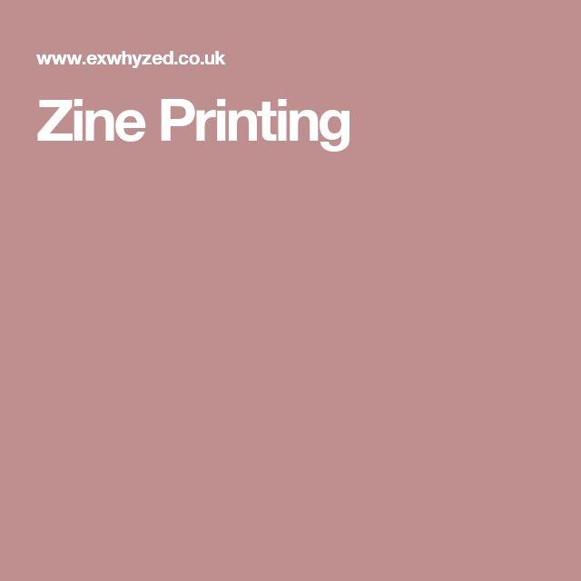 Zine Printing