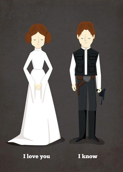 Poster Star Wars - Leia e Han