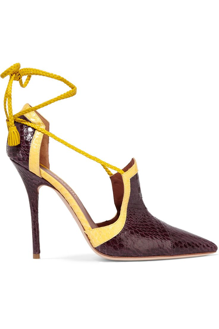 Shop on-sale Malone Souliers Haji two-tone waternsnake pumps. Browse other discount designer Pumps & more on The Most Fashionable Fashion Outlet, THE OUTNET.COM
