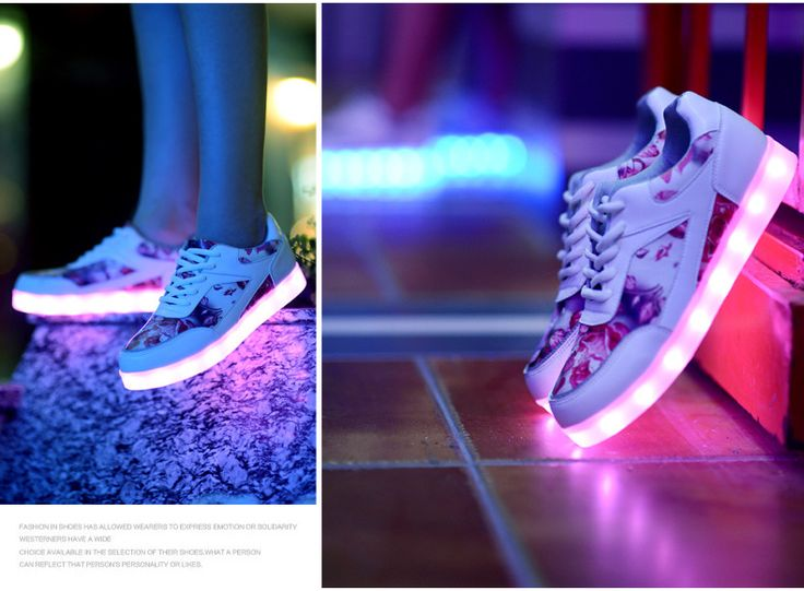 nouvelle vague chaussures lumineuses recharge USB