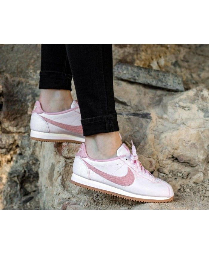 brand new e3a37 f687d Nike Cortez Leather Lux Pearl Pink Pearl Pink Sail Gum Med Brown Trainers  Outlet UK