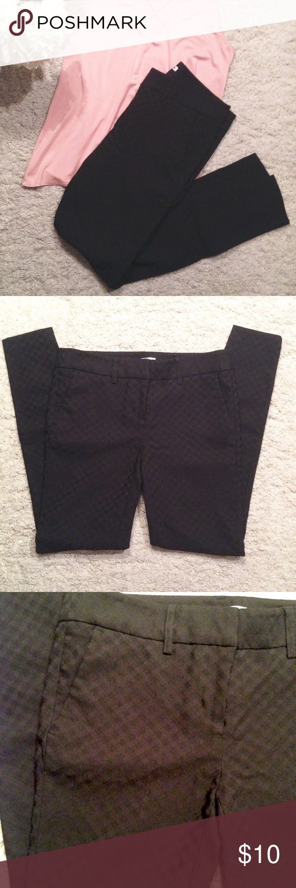 Dalia Black Pants Dalia • Black on black checkered pants • Size 4 • Like New • Purchased on Posh, too small on me Dalia Pants