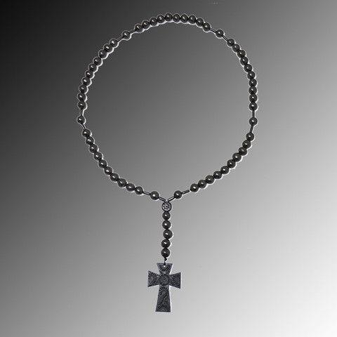 Rosario grande decorativo de barro negro rosarios hechosamano barro negro oaxaca for Decoracion hogar rosario