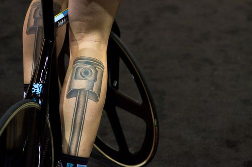 Piston tattoos. Very clever, very purposeful. I can heartily support this sort of body art.