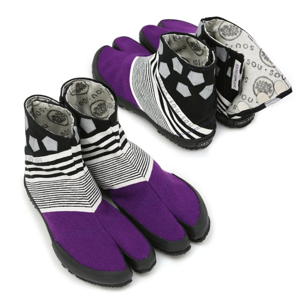 Purple shoes from Kyoto...  KYOTO SANGA F.C. 貼付地下足袋/傾き 蹴球(かぶき しゅうきゅう)