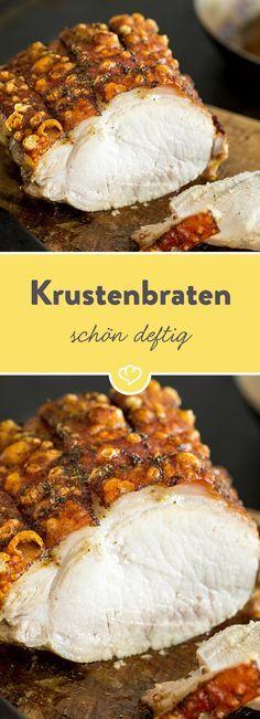 Dieser deftig, knusprige Schweinebraten kann mit jedem bayrischen Brauhaus mithalten. Dabei ist die Zubereitung viel einfacher als du denkst!