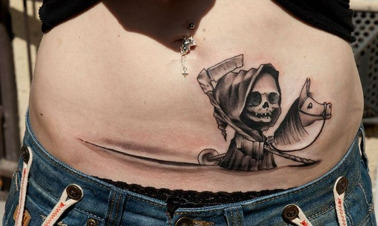 This would be a fun tattoo for a c-section scar
