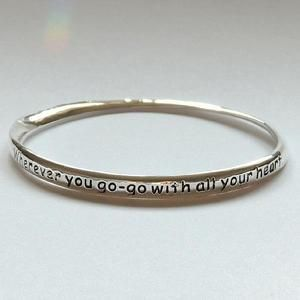 Wherever You Go, Go With All Your Heart Bangle from Astral Aspects