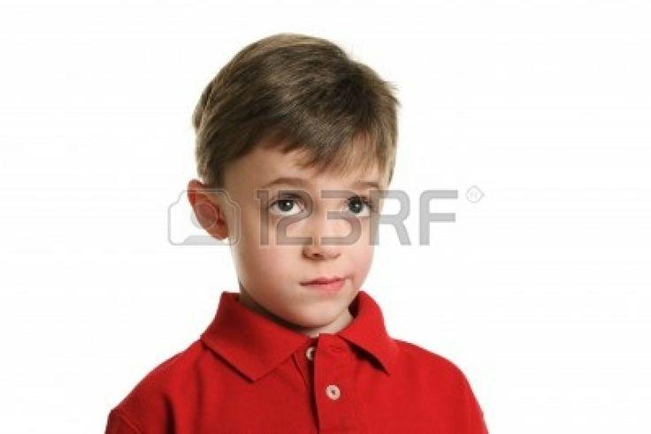Child thinking portrait Stock Photo - 13260683