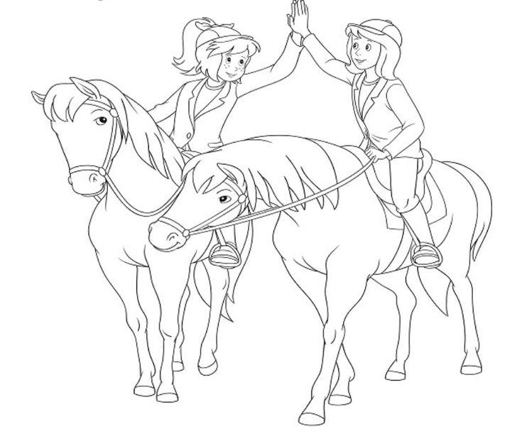 bibi und tina ausmalbilder  ausmalbilder pferde zum