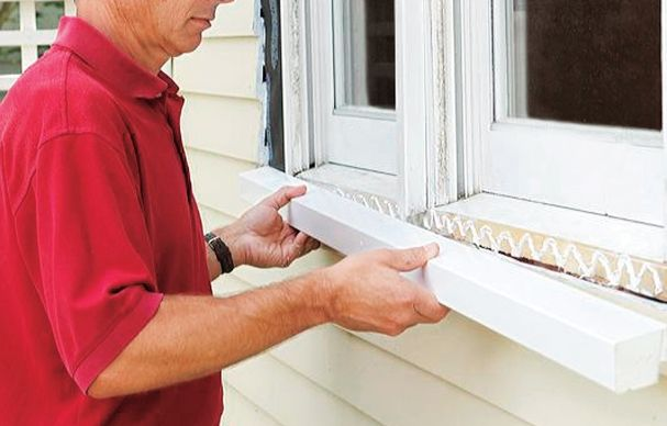 How To Repair A Rotted Windowsill Window Trim Exterior Diy Exterior Window Trim Pvc Window Trim